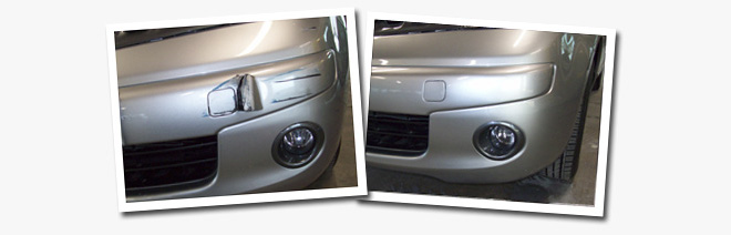 Bumper Repair - Before and after